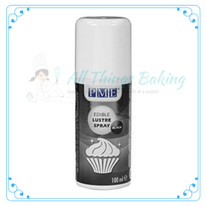 Edible Lustre Spray - Black - All Things Baking