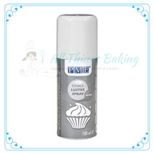 Edible Lustre Spray - Silver - All Things Baking