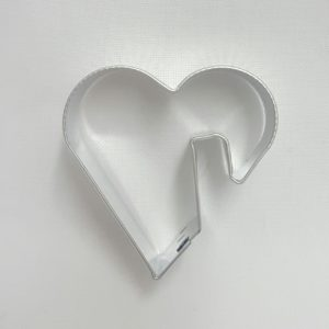 Stainless Steel Cutter - Heart Cup Sitter 5x5.5cm