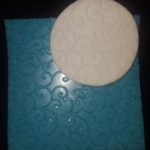 Embossing Mat - Twirls 100x100mm