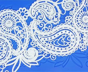 Edible Lace - Paisley Teardrop Mould