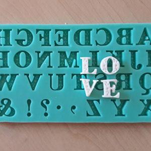 Silicone Mould - Decorative Letter