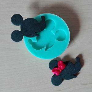 Silicone Mould - Mickey/Minnie Silhouette