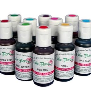 Gel Food Colour 25ml -Tulip Red