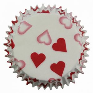 Petite Heart Baking Cup