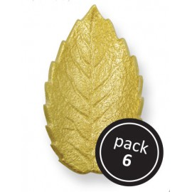 Rose Leaves Gold (pkt of 6) - Small