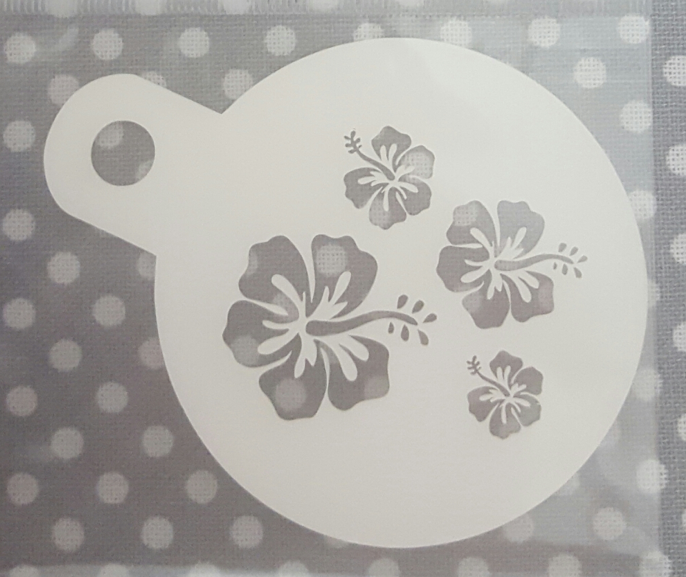 Cupcake stencil hibiscus flower all things baking cupcake stencil hibiscus flower izmirmasajfo