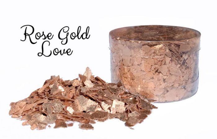 Rose Gold Lace Edible Flakes - All Things Baking