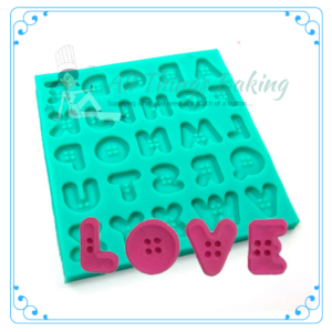 Button Alphabet - Silicone Mould - All Things Baking
