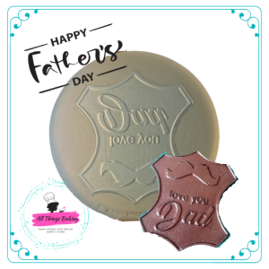 Silicone Mould - I Love you Dad Badge