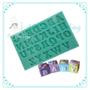 Upper Case Letters for Cupcakes - Silicone Mould - All Things Baking