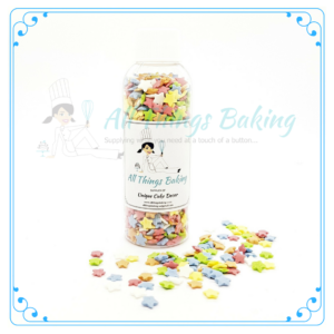 Cake Confetti - Stars Mixed Colours 50g - All Things Baking