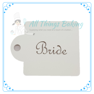 Cupcake Stencil - Bride - All Things Baking