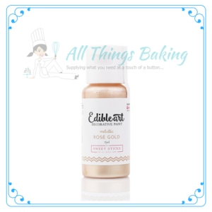 Edible Paint - Metallic Rose gold - All things Baking