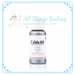 Edible Paint - Metallic Silver - All Things Baking
