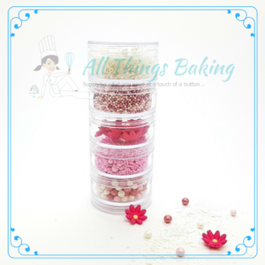 Sprinkle Stack - Pink & White - All things Baking