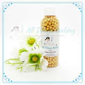 Sugar Pearls Soft - Gold 75g