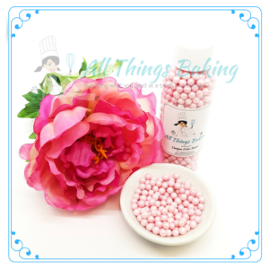 Sugar Pearls Soft - Pearlized Pink 5mm 75g - All Things Baking