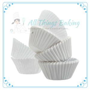 White Baking Cupcake Cup - All things Baking