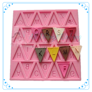Flag Letter Silicone Mould - All things Baking