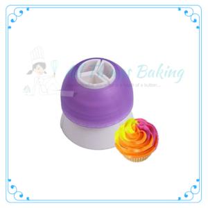 Tri Colour Piping Bag Adaptor - All Things Baking