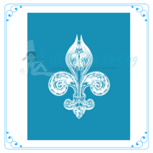 Mini Mesh Stencil - Fleur de Lis - All Things Baking