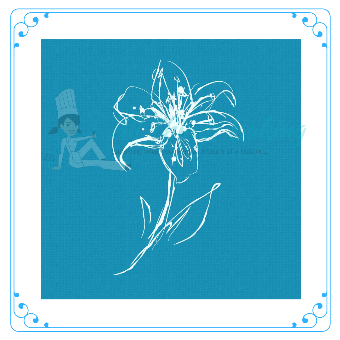 Mini Mesh Stencil Lily Of The Valley