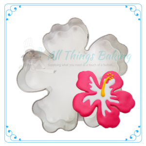 Stainless steel cookie cutter - Hibiscus - All Things Baking