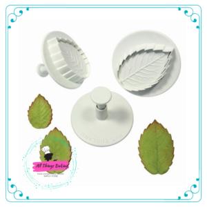 Plunger cutter - Veined Rose Leaf
