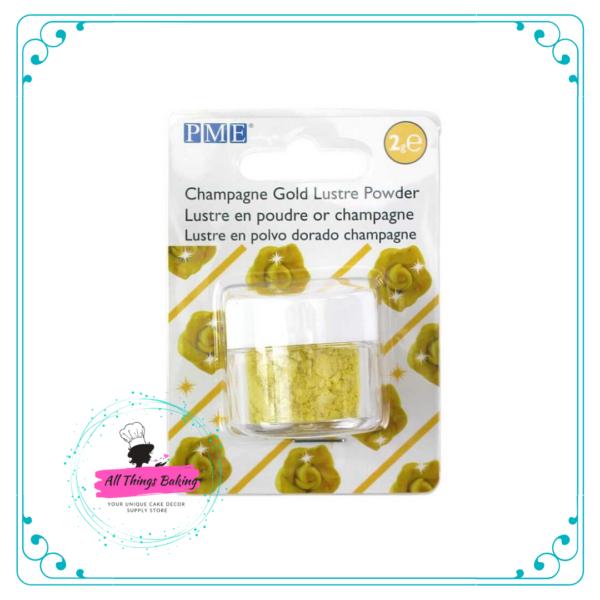 Lustre Powder Colour 2g - Champagne Gold