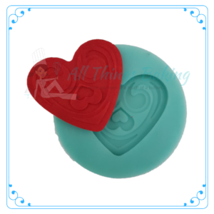 Silicone Mould - Decorative Heart - All Things Baking