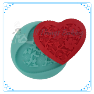 Silicone Mould - Floral Heart - All Things Baking