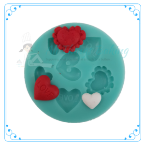 Silicone Mould - Heart Multimould - All Things Baking