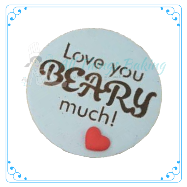 Stencil -Love you Beary Much - All Things Baking