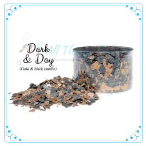 Dark and Day Edible Flakes - All Things Baking