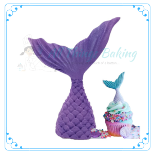 Edible Cupcake Decorations Mermaid Tail - All Things Baking