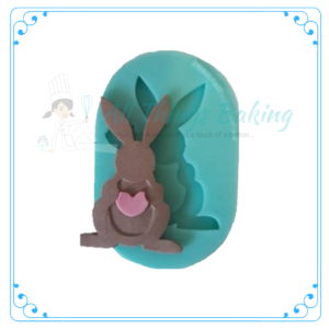 Silicone Mould - Bunny with Heart - All Things Baking