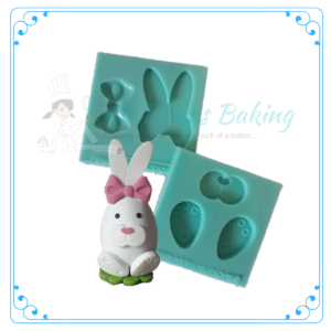 Silicone Mould - Ears, Bow, Feet and Nose Set - All Things Baking
