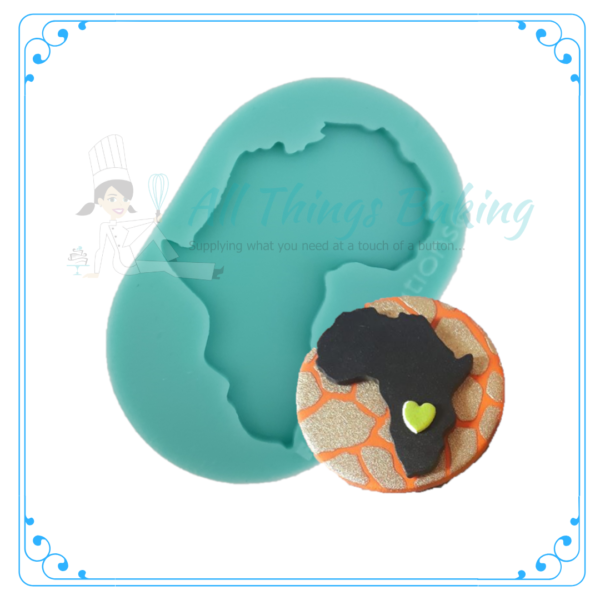 Silicone Mould - Africa Silhouette - All Things Baing