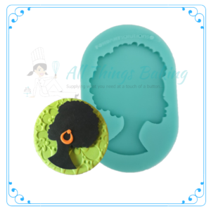 Silicone Mould - African Lady Silhouette - All Things Baking