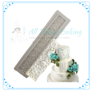 Silicone Mould - Button Strip - All Things Baking