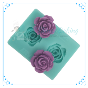 Silicone Mould - Delicate Rose Duo