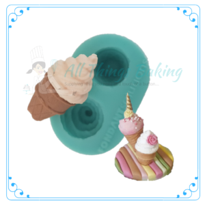 Silicone Mould - Ice Cream Swirls