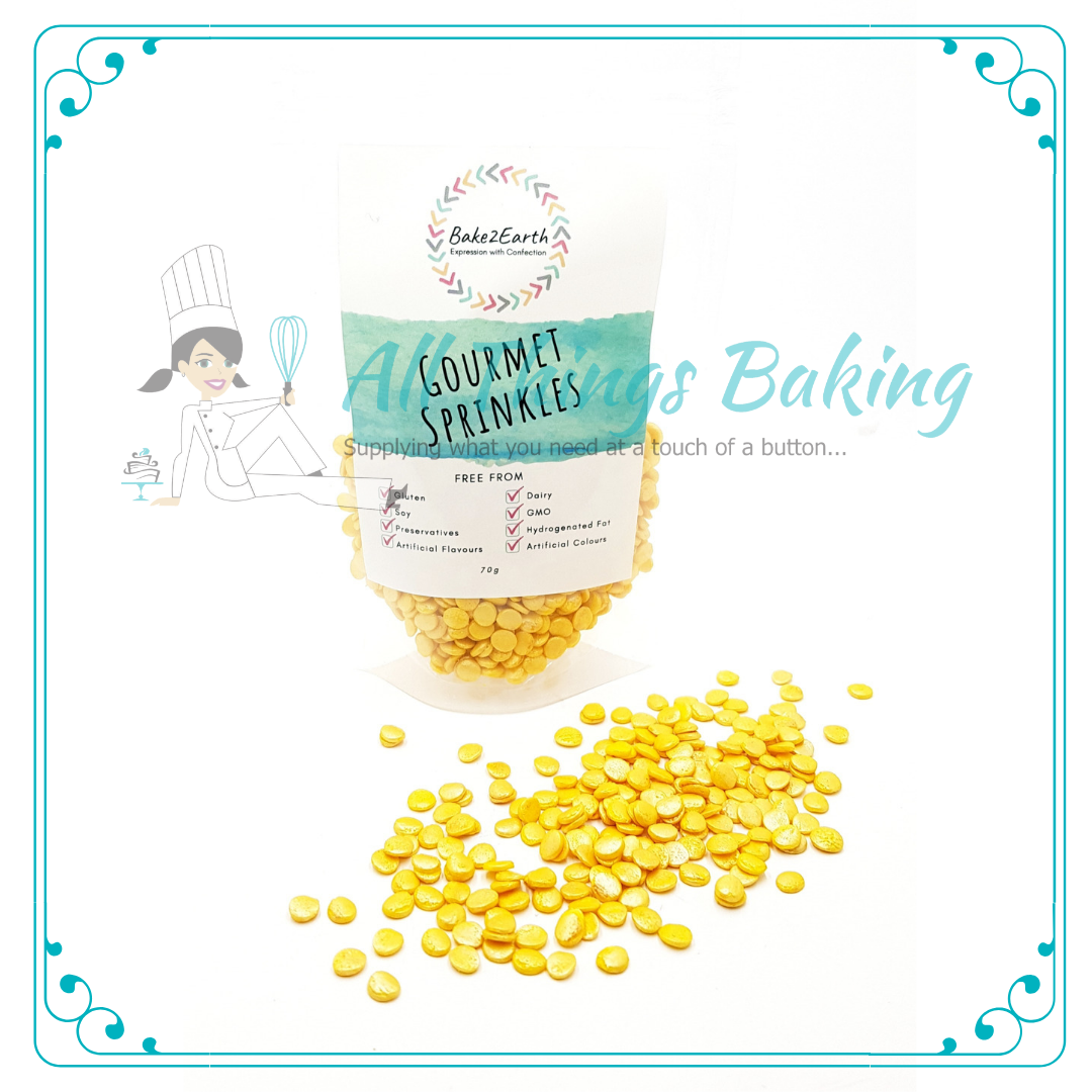 Edible Confetti - Gold Sequins 70g