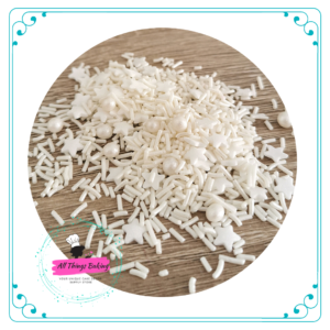 Mixed Sprinkles -White
