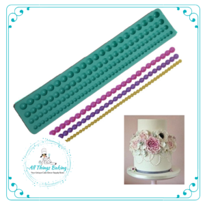 Silicone Mould - Bead Border - All Things Baking