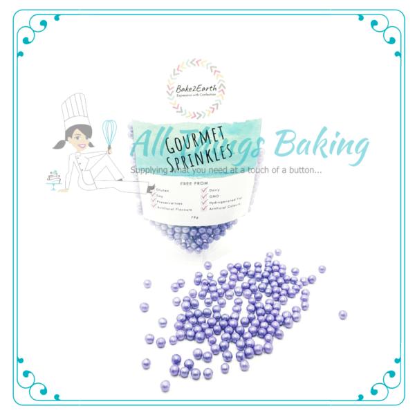 Shimmer pearls - Purple