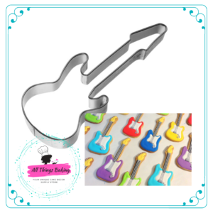 Stainless Steel Cookie Cutter - Electric Guitar