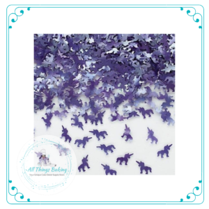 Edible Glitter Shapes - Purple Unicorns