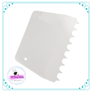 Scallop Plastic Side Scraper